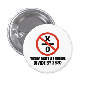 Friends Don't Divide by Zero 3 Cm Round Badge