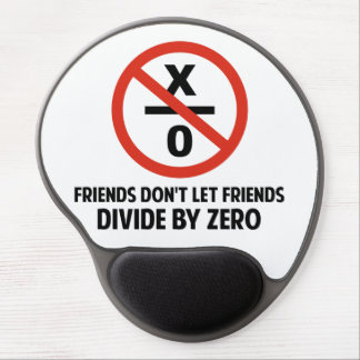 Friends Don't Divide by Zero Gel Mouse Pad