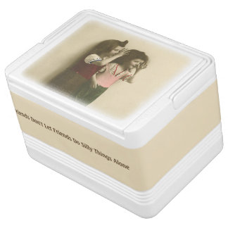 Friends Don't Let Friends Do Silly Things Alone Igloo Cool Box