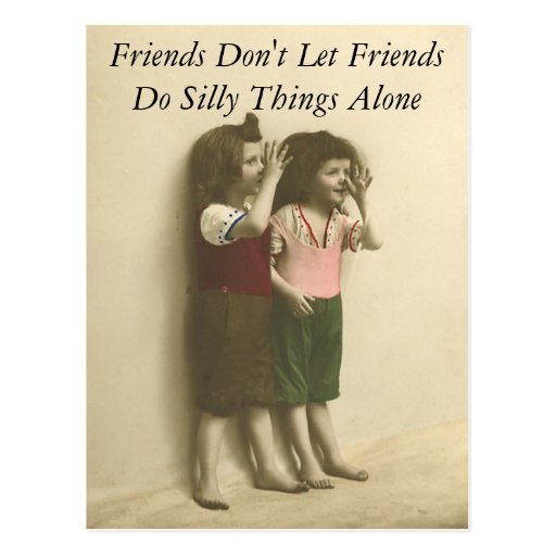 Friends Don't Let Friends Do Silly Things Alone Post Card
