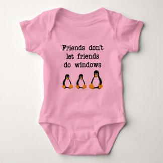 Friends don't let friends do windows tee shirts