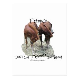 Friends Don't Let Friends Eat Alone Postcard