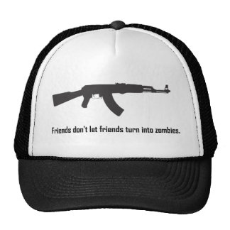 Friends don't let friends turn into zombies! mesh hats