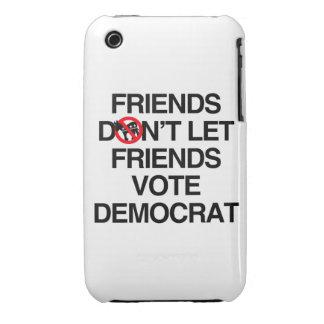 FRIENDS DON'T LET FRIENDS VOTE DEMOCRAT Case-Mate iPhone 3 CASES