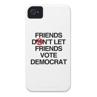 FRIENDS DON'T LET FRIENDS VOTE DEMOCRAT iPhone 4 CASES