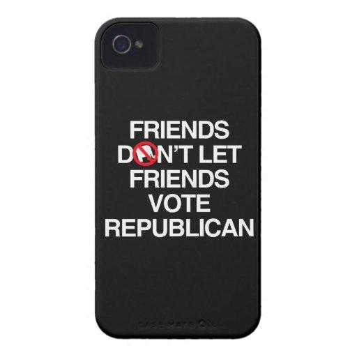 FRIENDS DON'T LET FRIENDS VOTE REPUBLICAN.png Blackberry Case
