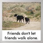 Friends don't let friends walk alone. poster