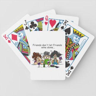 Friends Don't Let Friends Wine Alone Poker Deck