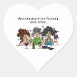 Friends Don't Let Friends Wine Alone Sticker