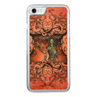 Friends, dragon with fighter carved iPhone 8/7 case