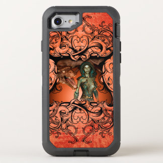 Friends, dragon with fighter in a decorative frame OtterBox defender iPhone 8/7 case