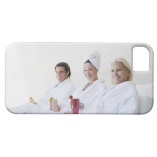 Friends drinking fruit smoothies at spa iPhone 5 case
