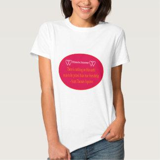 Friends Forever 2 Hearts Magenta White Saint Thoma Tee Shirts