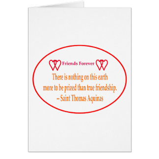 Friends Forever 2 Hearts Red Transp Saint Thomas A Greeting Card