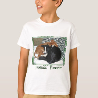 Friends Forever - Border Collie & Golden Retriever T-Shirt