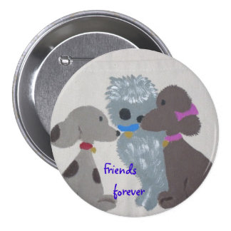 Friends forever button