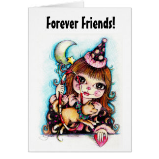 Friends Forever Circus Dog Card