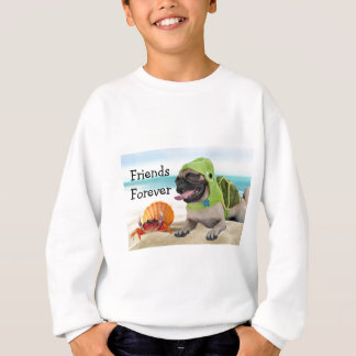Friends Forever: Crab + Turtle Pug Sweatshirt