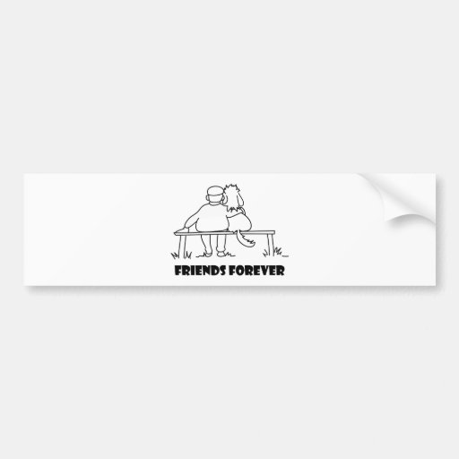 Friends Forever Customizable Gifts Bumper Sticker