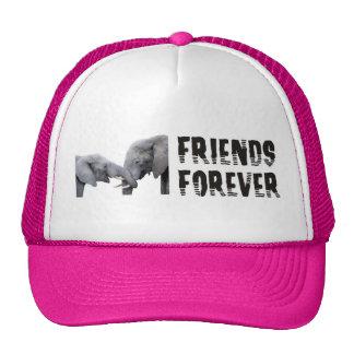 Friends Forever Elephants hugging / kissing Cap