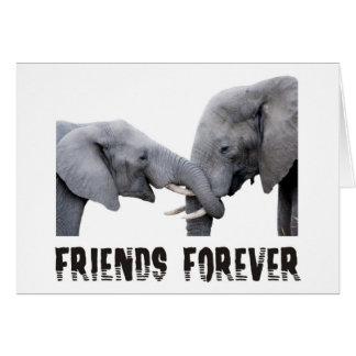 Friends Forever Elephants hugging / kissing Card