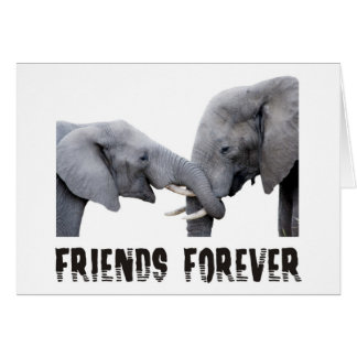 Friends Forever Elephants hugging / kissing Greeting Card