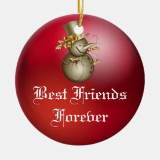 Friends Forever Heart Christmas Ornament