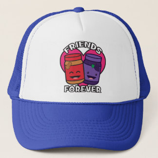 Friends Forever - Peanut Butter And Jelly Kawaii Trucker Hat