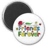 Friends Forever Refrigerator Magnet
