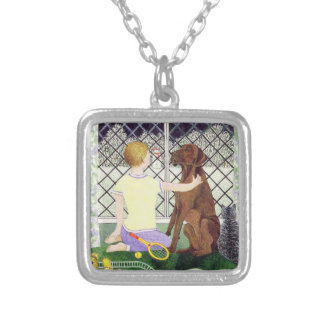 Friends Forever Silver Plated Necklace
