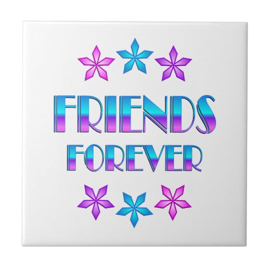 FRIENDS FOREVER SMALL SQUARE TILE