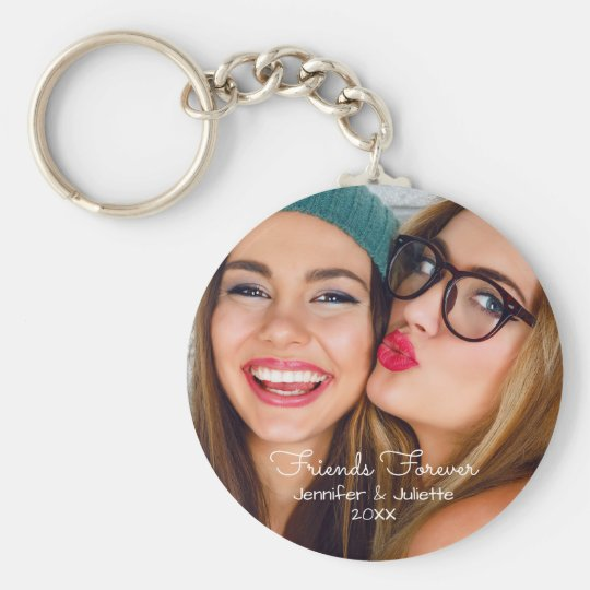 Friends forever | upload photo add names and date key ring