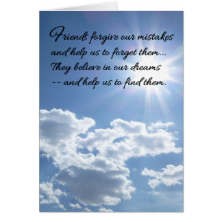 Friends forgive our mistakes... greeting card