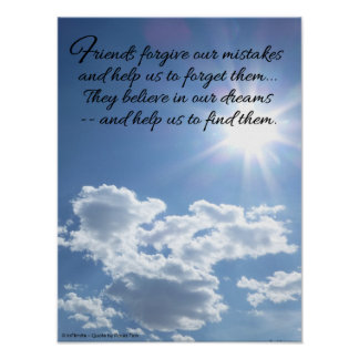 Friends forgive our mistakes...Inspirational Poster