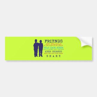 Friends Friendship Best Friends Bumper Sticker