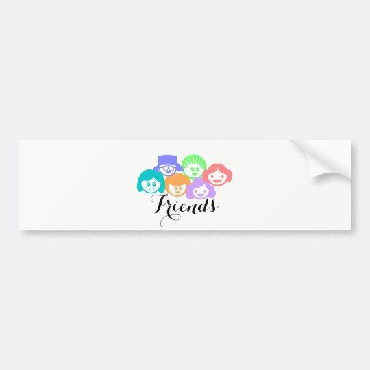 """""""Friends"""" Friendship Cute Bumper Sticker. Bumper Sticker"""