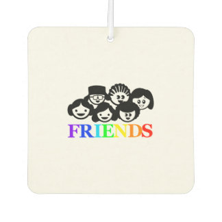 """Friends"" Friendship, Rainbow Car Air Freshener. Car Air Freshener"