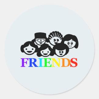 """""""Friends"""" Friendship Stickers"""