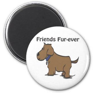 Friends Fur-ever! 6 Cm Round Magnet