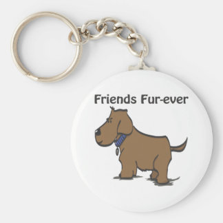Friends Fur-ever! Basic Round Button Key Ring