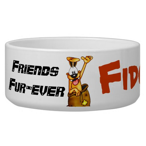 Friends Fur-ever Customized Dog Bowls