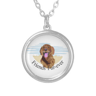 Friends Fur-Ever Round Pendant Necklace