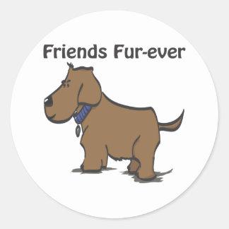 Friends Fur-ever! Round Sticker