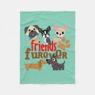 Friends Furever Dogs Puppies Fleece Blanket