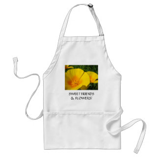 FRIENDS! Gifts Poppies SWEET FLOWERS FRIENDS Adult Apron