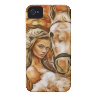 Friends Girl and Horse iPhone 4 Case