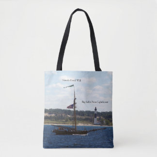 Friends Good Will & Big Sable Light all over tote
