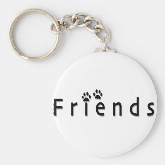 Friends logo basic round button key ring
