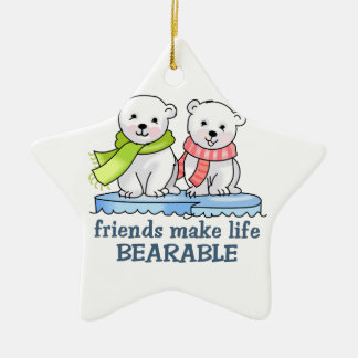 FRIENDS MAKE IT BEARABLE CHRISTMAS ORNAMENT