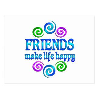 Friends Make Life Happy Postcard